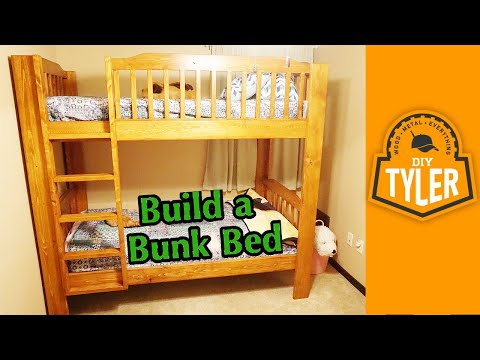 Single on double bunk bed
