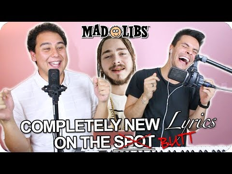 Post Malone  Better Now MadLibs   ONETAKE!
