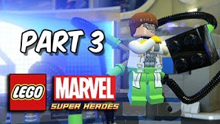 LEGO Marvel Super Heroes Gameplay Walkthrough - Part 3 Chase Dr. Octopus (Let's Play Commentary)