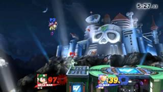 Online / With Friends / Smash Wily Castle (Ω Form) Olimar, Mega Man.