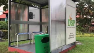 A designated smoking point (DSP) near Block 850, Yishun Street 81