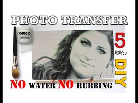 Photo Transfer No Rubbing No Water