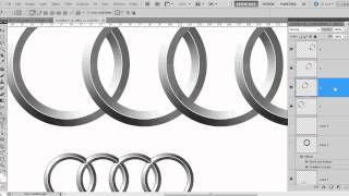 How to Draw Audi Chrome Rings - Audi Logo in Photoshop CS5 - Beginner Tutorial