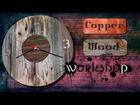 Часы настенные деревянные часы своими руками
