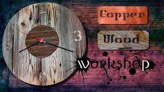 Часы.  Настенные деревянные часы своими руками / Wall Clock Wooden Handmade(, 2017-04-06T21:58:16.000Z)