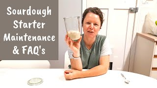 Sourdough Starter Maintenance and Frequently Asked Questions