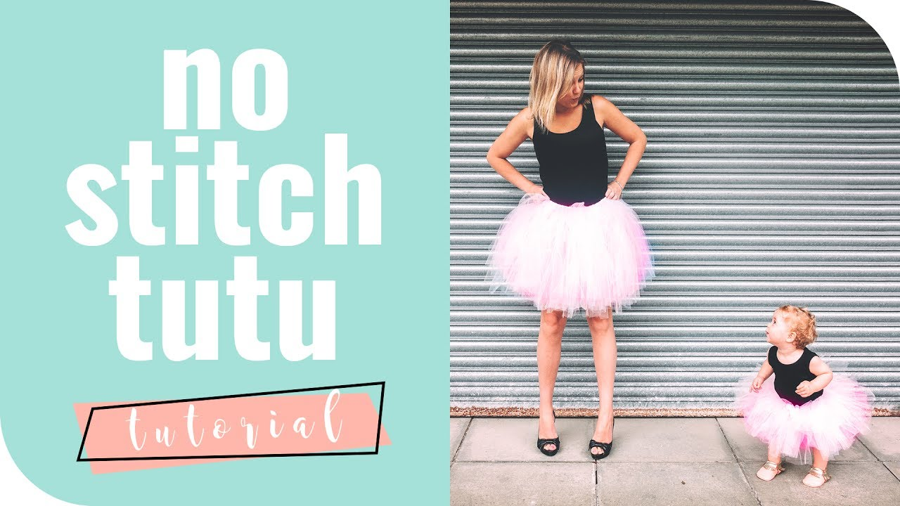 How to make a tutu that\'s so easy for babies, girls and adults - YouTube