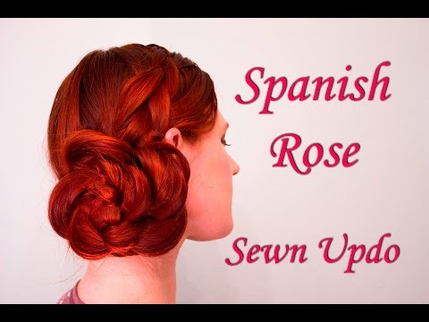 spanish-rose-sewn-updo-tutorial