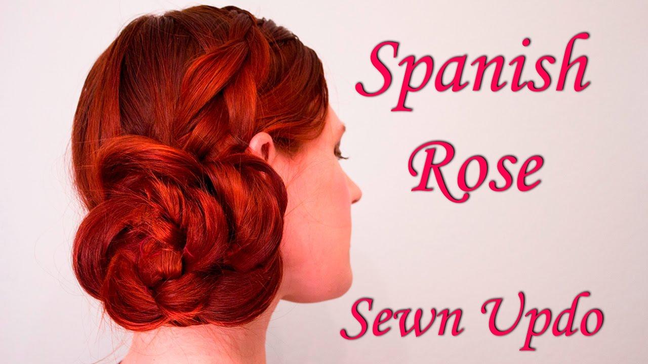 Spanish Rose Sewn Updo Tutorial Youtube