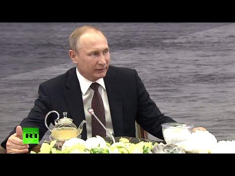 Putin talks to world news agencies at St. Petersburg Economic Forum