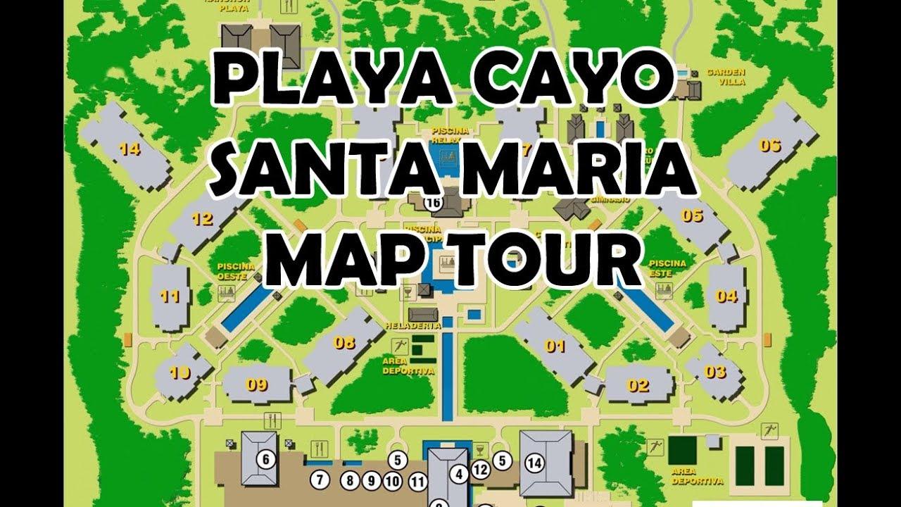 Playa Cayo Santa Maria Map Playa Cayo Santa Maria MAP TOUR   YouTube