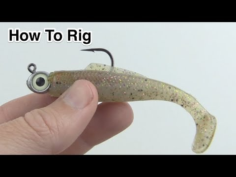 How To Rig Zman MinnowZ Lures [Super Close-Up View]