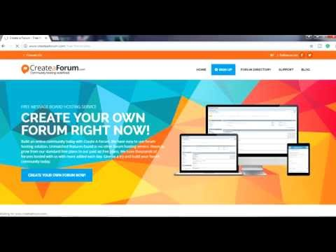 How To Create Your Own Forum for FREE in 1 Minute
