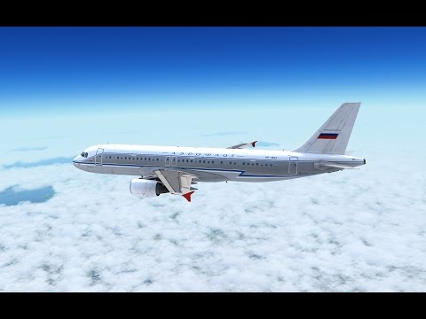 P3D Approach and landing in Sheremetyevo International Airport (UUEE), Airbus A320