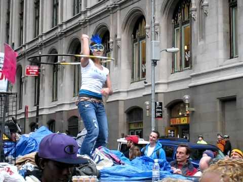 Hula Hoop Lady - Occupy Wall Street