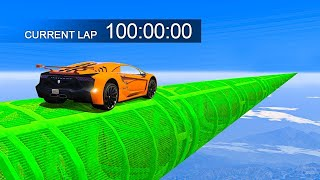 100 MINUTE LONG IMPOSSIBLE STUNT RACE - GTA 5 Funny Moments