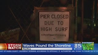 STORM WATCH: High Surf Forces The Closure Of Pacifica Pier