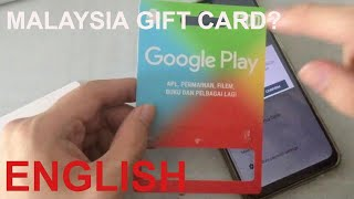 HOW TO USE A MALAYSIA GOOGLE PLAY GIFT CARD