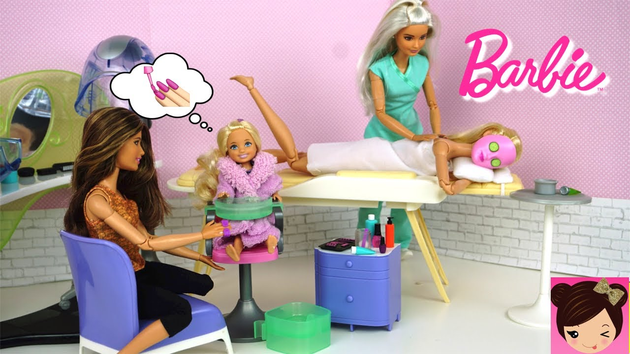 Barbie And Chelsea Spa Day Routine Barbie Doll Beauty