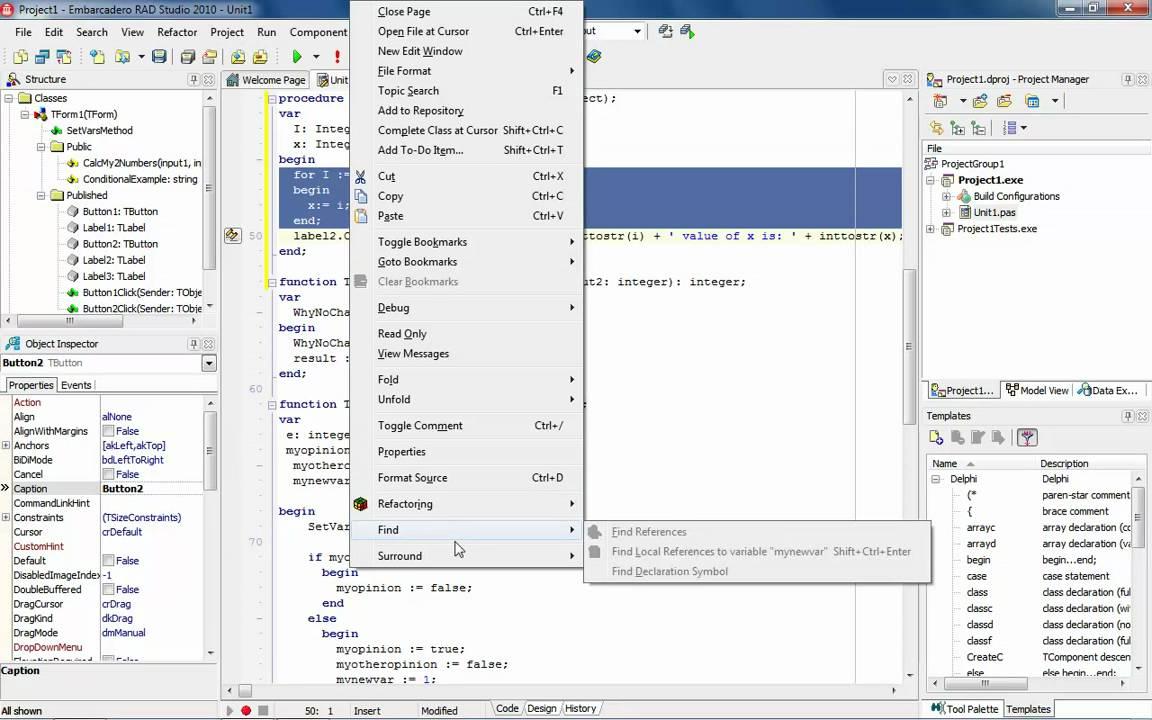 Delphi LiveTemplates | Code Faster - YouTube