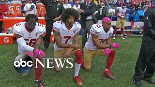 Colin Kaepernick Discusses National Anthem Protest.