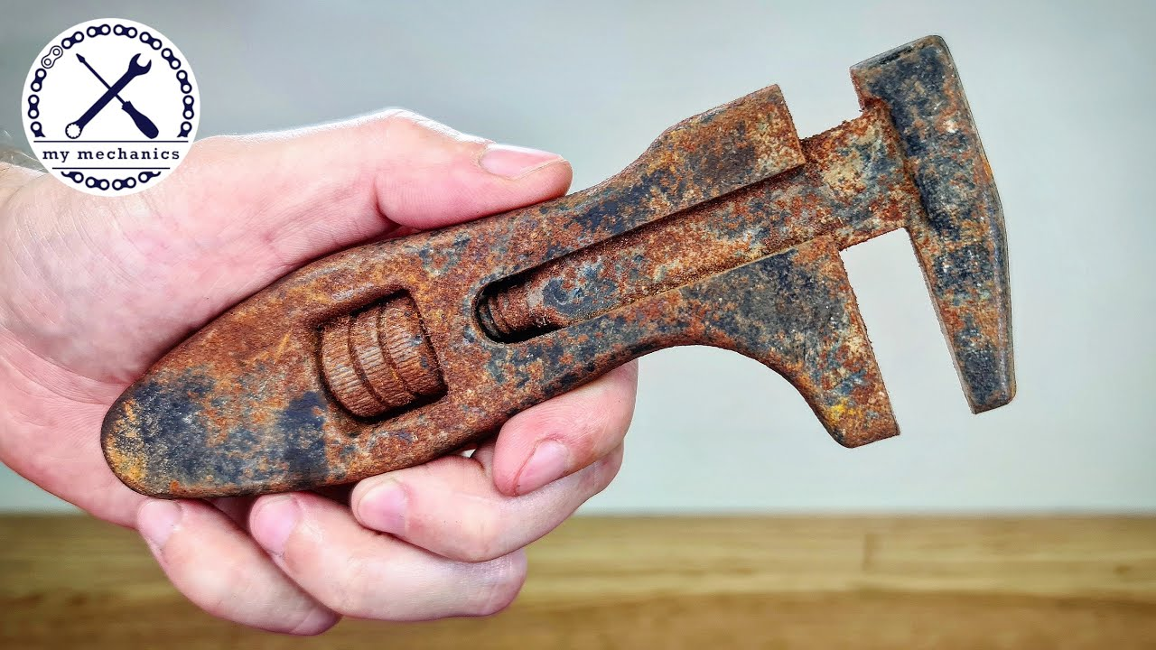 Antique Seized Adjustable Wrench - Restoration