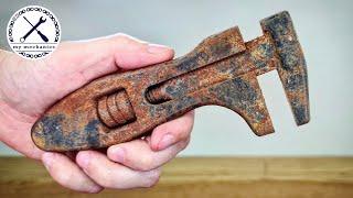 Старинный ржавый разводной ключ - Реставрация