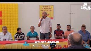 Welser Araújo em pronunciamento no encontro do PSB em Russas