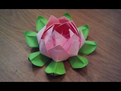 How to make an origami lotus flower youtube for How to make a lotus with paper