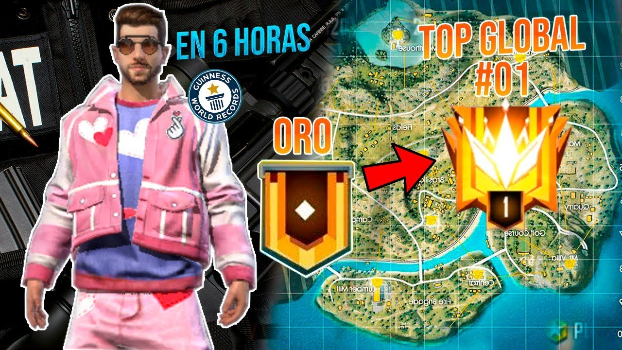 DE ORO A TOP GLOBAL 1 // EN SOLO 6 HORAS // TEMPORADA 14 FREE FIRE !!