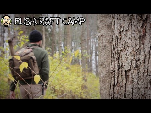 Making a Bushcraft Camp: Scouting, Ridge Pole (Part 1)