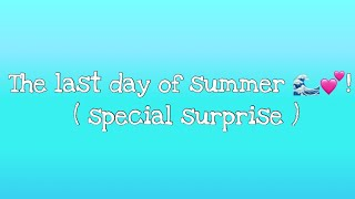 The Last Day Of Summer!🌊💕 /Roblox!