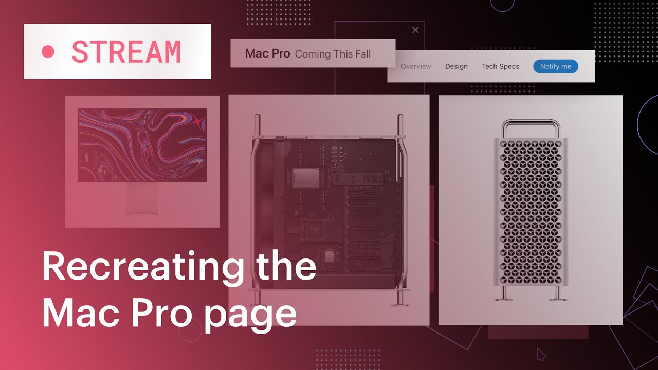 Recreating the Apple Mac Pro page layout in Webflow - YouTube