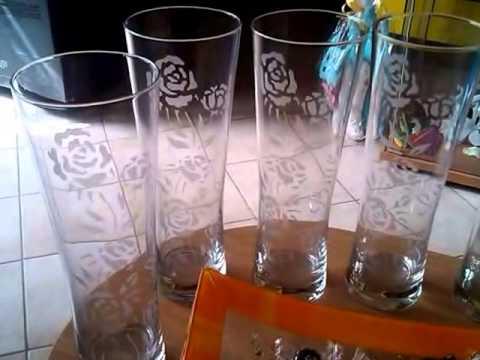Incisione bicchieri vetro e presentazioni youtube - Decorare bicchieri di vetro ...