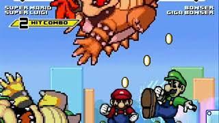 Super Mario and Super Luigi vs Bowser and Giga Bowser MUGEN Battle!!!
