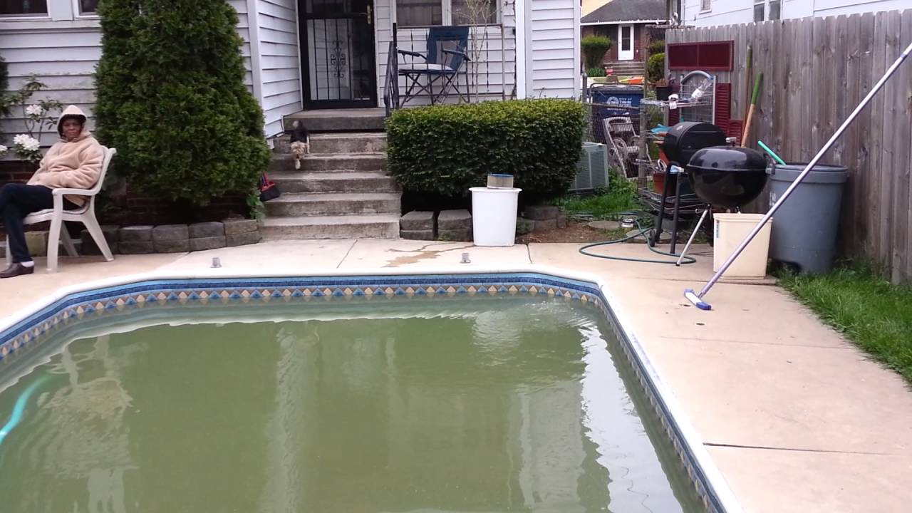 how to clean a dirty pool youtube. Black Bedroom Furniture Sets. Home Design Ideas