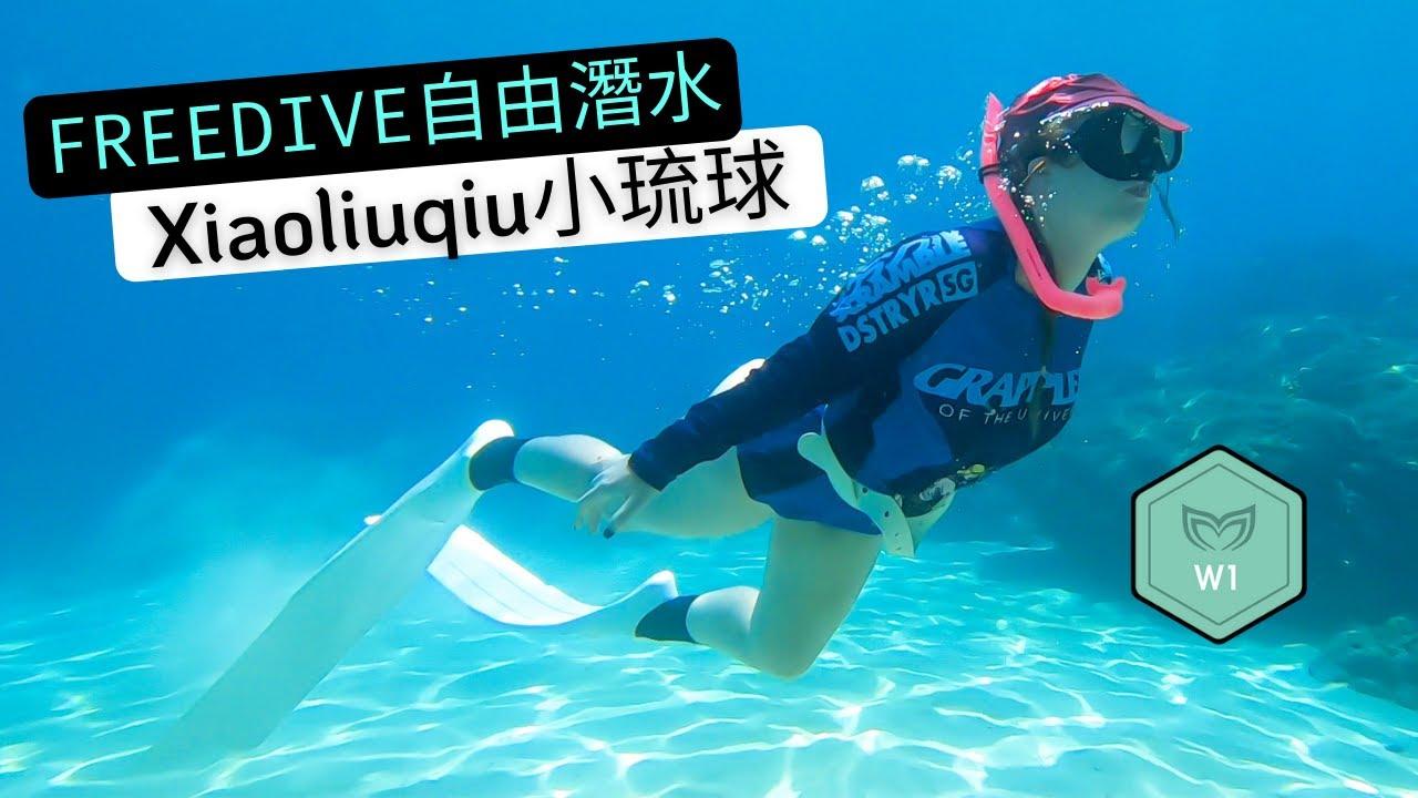 Learning to FREEDIVE in Taiwan's Island Paradise 🏝 [Molchanovs Wave 1 Course in Xiaoliuqiu]