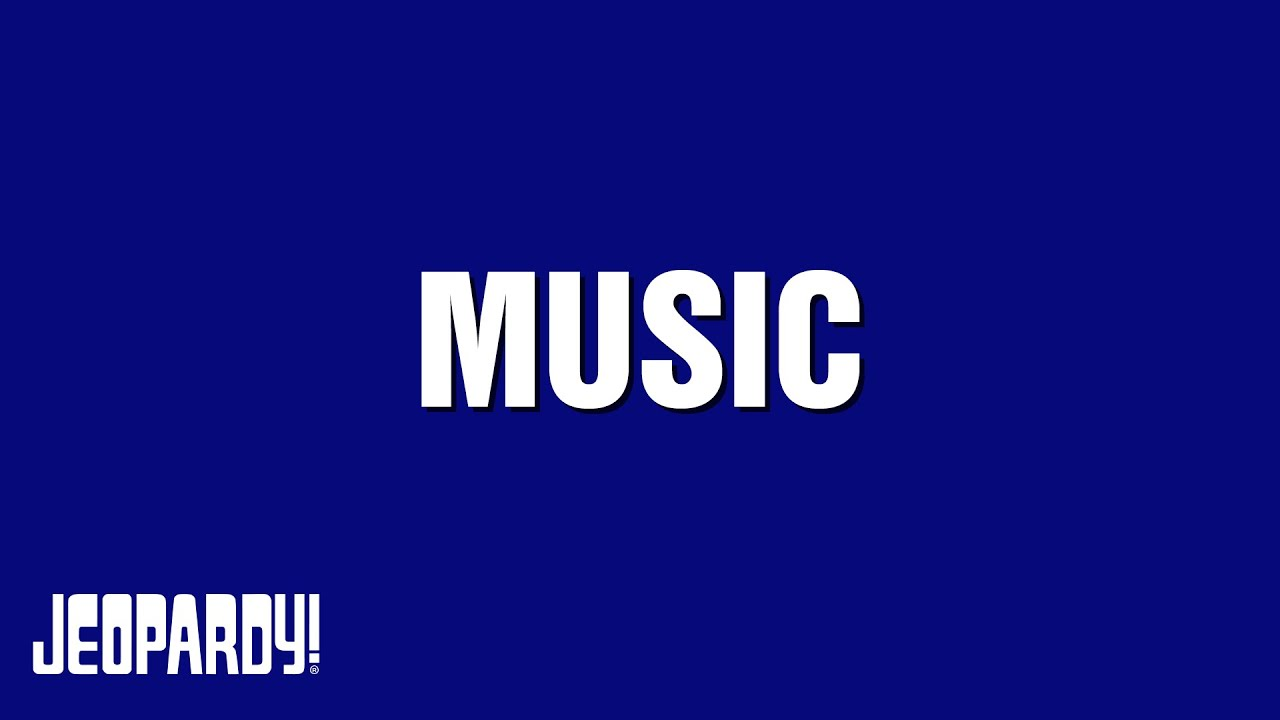 Jeopardy!  Music Category Youtube