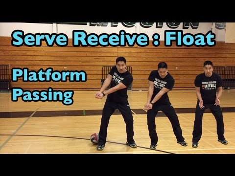 Passing FLOAT Serves with PLATFORM - How to PASS a Volleyball Tutorial (part 3/6)