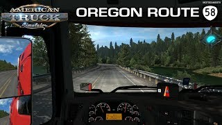 American Truck Simulator - Driving from Eugene to Bend - New Road OR-58 [4K 60FPS]