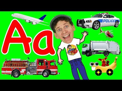 Vehicles Alphabet Phonics Song for Kids | A to Z Transportation | Learn Transport Kids