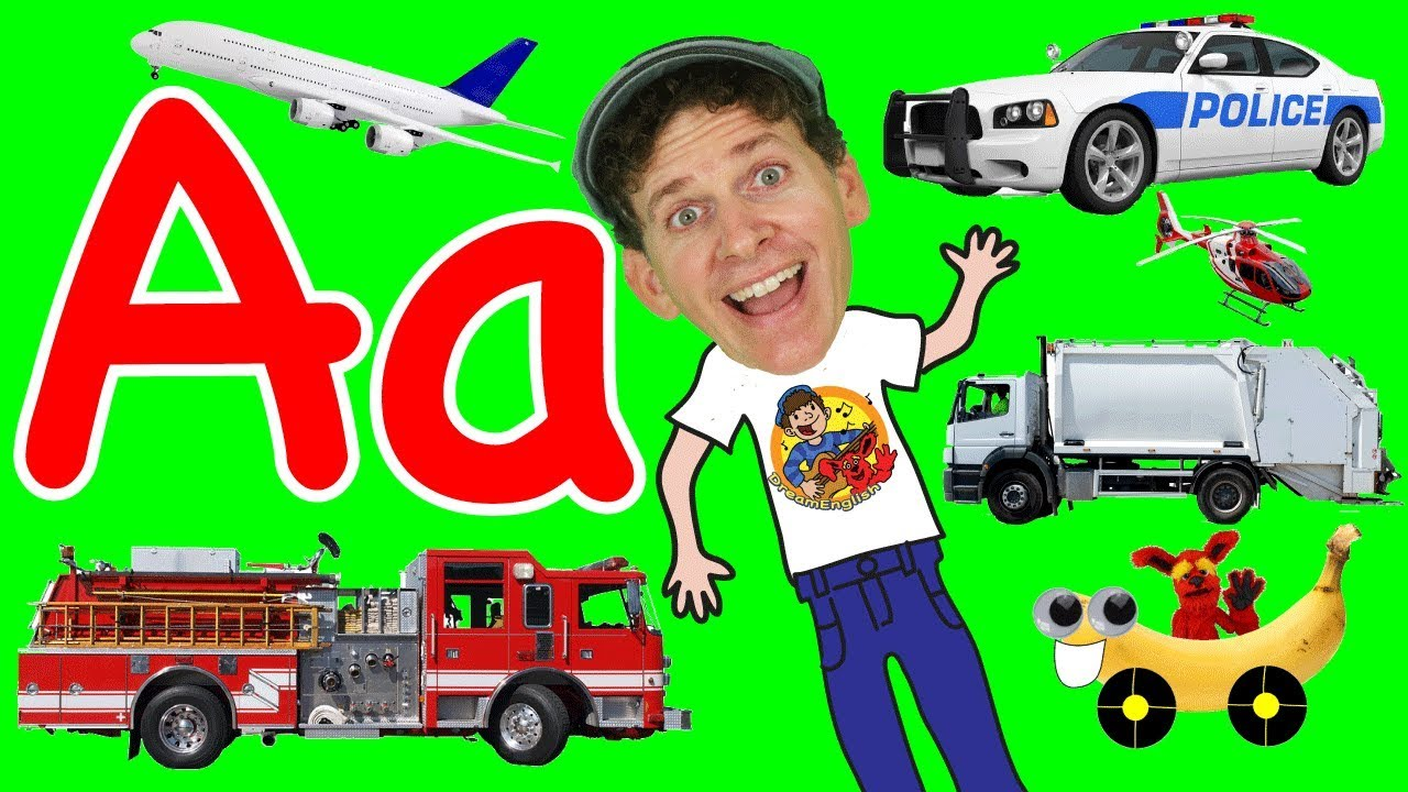 Vehicles Alphabet Phonics Song For Kids A To Z Transportation