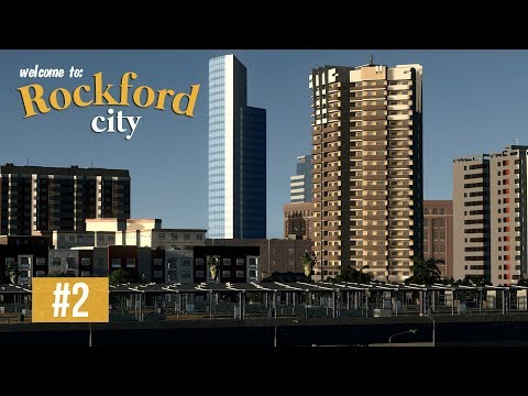 Cities Skylines: Rockford City - EP2 - Metro & bus station and Shopping street!