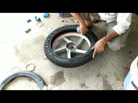 Convert Tube Tyre To Tubeless Tyre    Hero Hf Deluxe 2019   Asj Vlogs