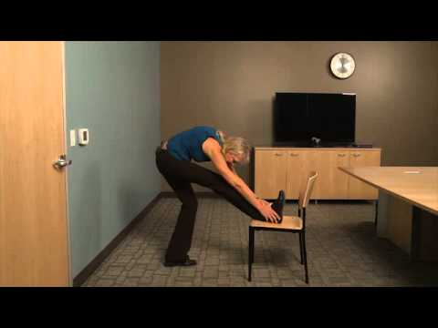 Hamstring Stretch: Stretching Hamstring using Chair