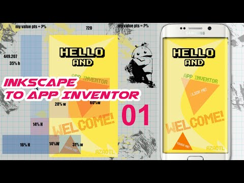 App Inventor | Designing an Android APP in INKSCAPE | part 01
