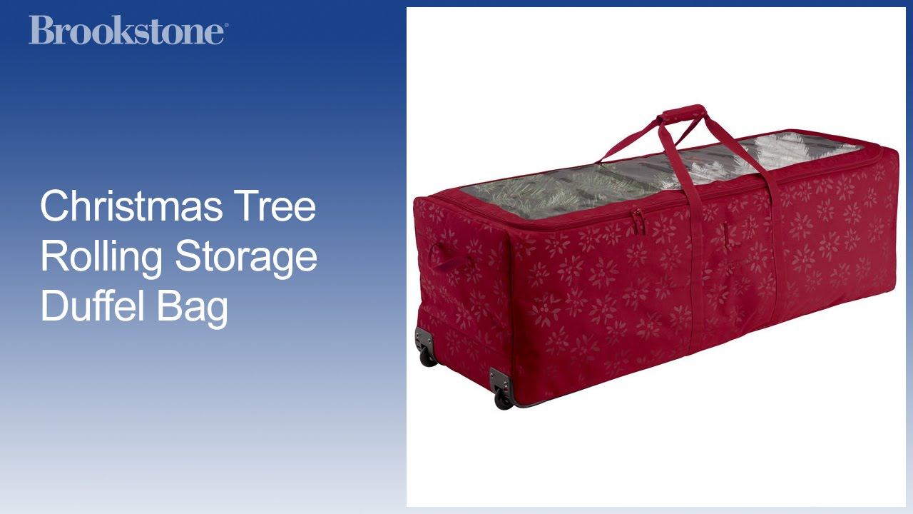 f36289b4d6 Christmas Tree Rolling Storage Duffel Bag - YouTube