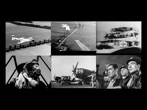 """The Fight for the Sky""  World War 2 Fighter Action (Digitally Restored)"