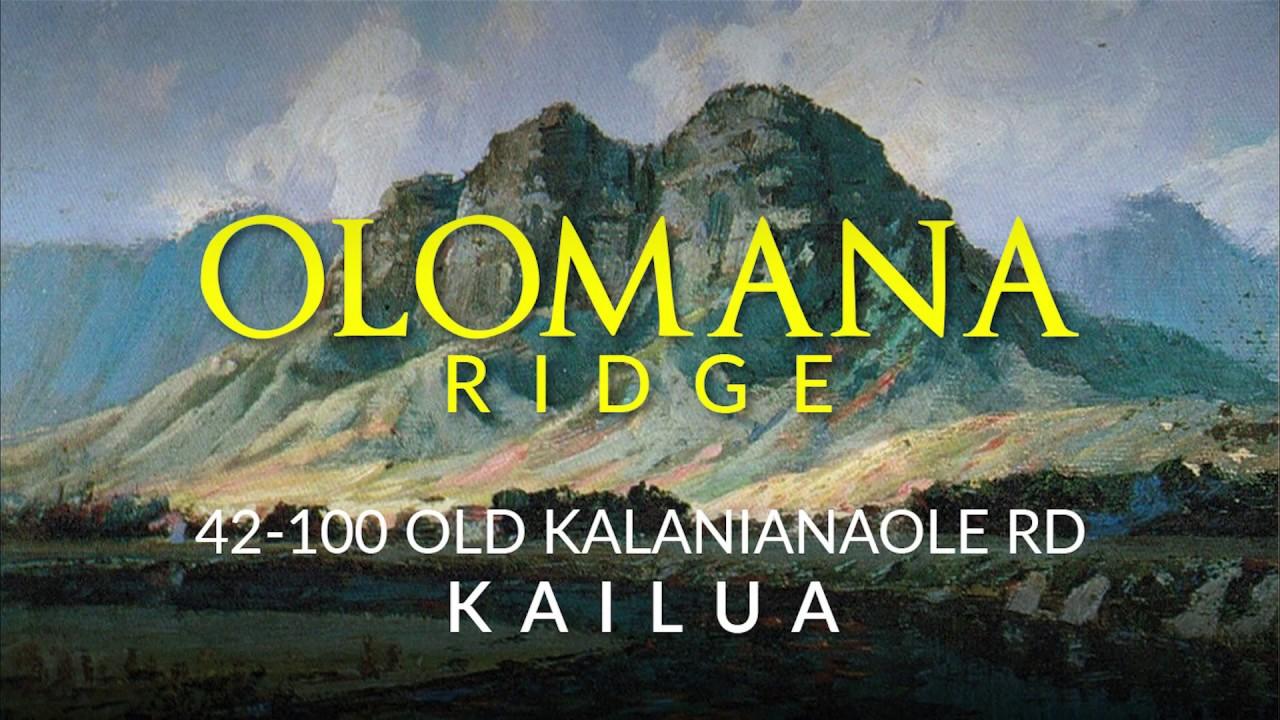 Olomana Ridge Lots 1,2,3, and 5