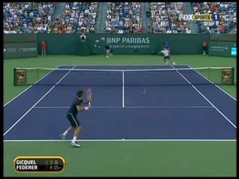 Indian Wells 09: 2R Roger v Gicquel (Highlights Pt 2)